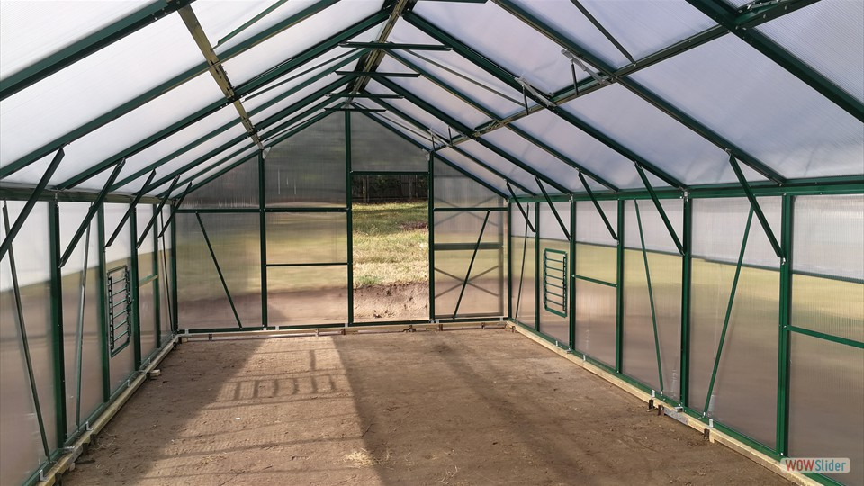 Inside of greenhouse is 4 x 8 meters